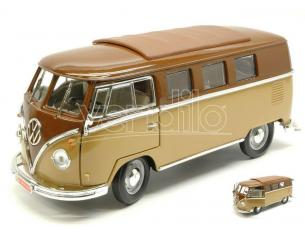 Hot Wheels LDC92328BN VW MICROBUS 1962 2 TONE BROWN 1:18 Modellino