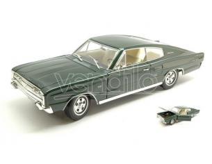 Hot Wheels LDC92638DG DODGE CHARGER 1966 DARK GREEN 1:18 Modellino