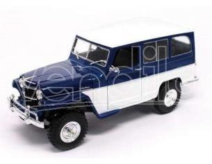 Hot Wheels LDC92858WB WILLYS JEEP BLUE/WHITE 1:18 Modellino