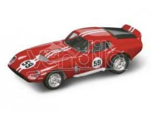 Hot Wheels LDC94242R SHELBY COBRA DAYTONA COUPE' 1965 N.59 RED/WHITE 1:43 Modellino
