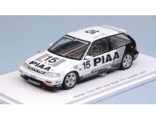 Spark Model S5456 HONDA CIVIC PIAA NAKAJIMA PLANNING CIVIC EF3 1989 H.OKADA-K.SATO 1:43 Modellino