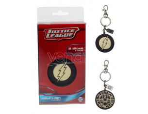SD TOYS JLA THE FLASH GOLDEN LOGO METAL KEYCHAIN PORTACHIAVI