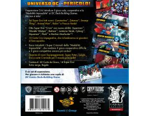 CRYPTOZOIC COSMIC GAMES DC DECK BUILDING GAME CRISIS EXP SET ITA GIOCO DA TAVOLO