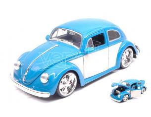 JADA TOYS JADA99018 VW BEETLE 1959 BLUE/CREAM 1:24 Modellino