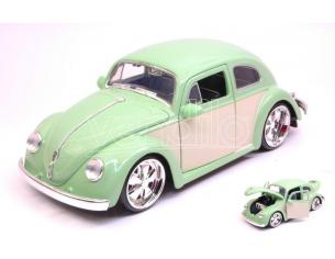 JADA TOYS JADA99020 VW BEETLE 1959 LIGHT GREEN/CREAM 1:24 Modellino