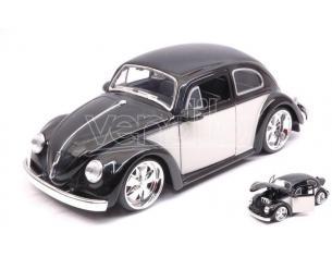 JADA TOYS JADA99021 VW BEETLE 1959 LIGHT BLACK/CREAM 1:24 Modellino