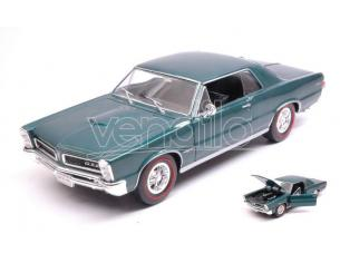 Welly We22092gr Pontiac Gto 1965 Metallolic Dark Green 1:24-27 Modellino
