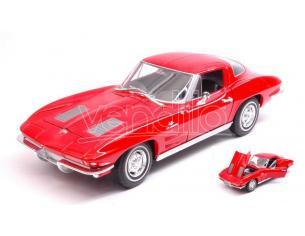 Welly WE24073R CHEVROLET CORVETTE 1963 RED 1:24-27 Modellino