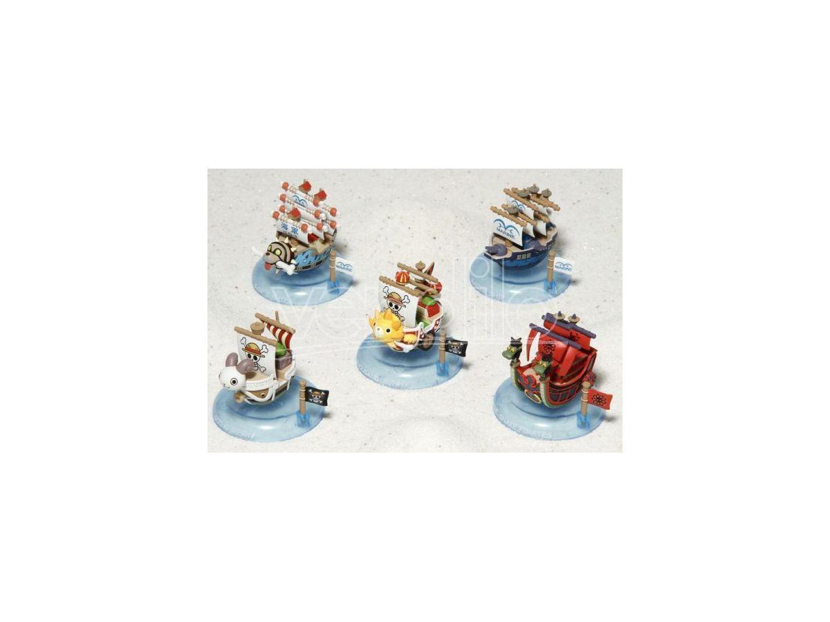 MEGAHOUSE ONE PIECE  YURAYURA PIRATE SHIP DISP (6) MINI FIGURA
