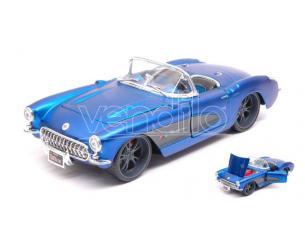 Maisto MI31323B CHEVROLET CORVETTE 1957 CABRIOLET METALLIC BLUE 1:24 Modellino