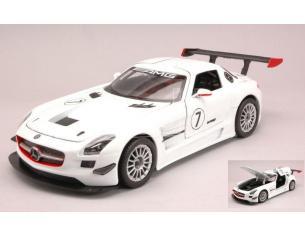 Motormax MTM73772W MERCEDES SLS AMG GT3 WHITE 1:24 Modellino