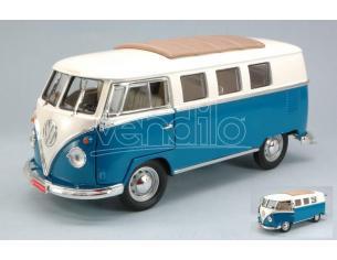 Hot Wheels LDC92327BL VW MICROBUS SOFT TOP 1962 BLUE 1:18 Modellino