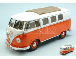 Hot Wheels LDC92327OR VW MICROBUS 1962 ORANGE W/WHITE ROOF 1:18 Modellino
