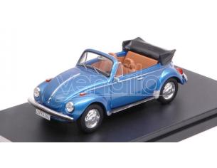Protar PRXD531 VW SUPER BEETLE CONVERTIBLE 1973 MET.BLUE 1:43 Modellino