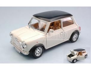 Bburago BU12036C MINI COOPER 1969 CREAM W/BLACK ROOF 1:18 Modellino