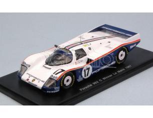 Spark Model S43LM87 PORSCHE 962 C N.17 WINNER LM 1987 D.BELL-H.J.STUCK-A.HOLBERT 1:43 Modellino