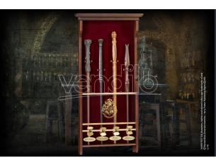 Portabacchette in legno a 4 posti Harry Potter Hogwarts Noble Collection