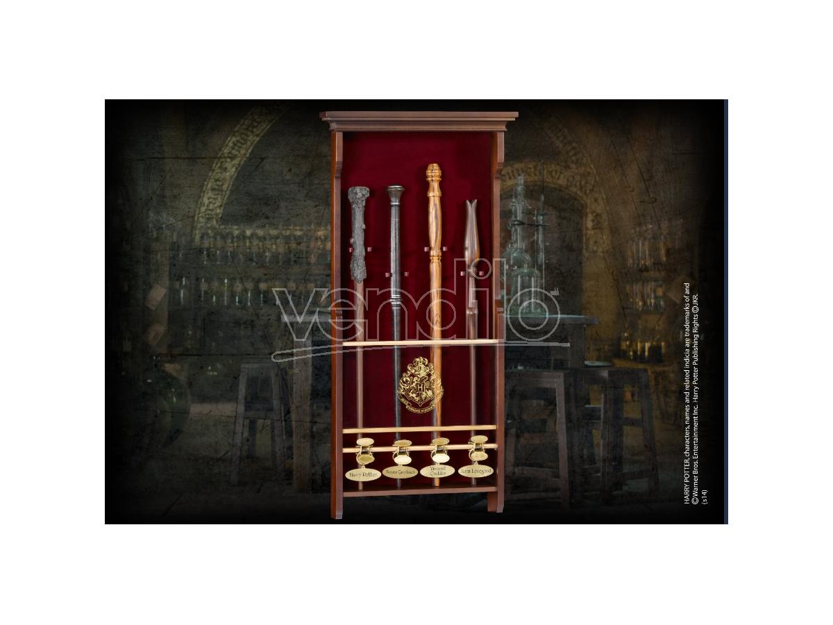 Harry Potter Portabacchette In Legno A 4 Posti Noble Collection