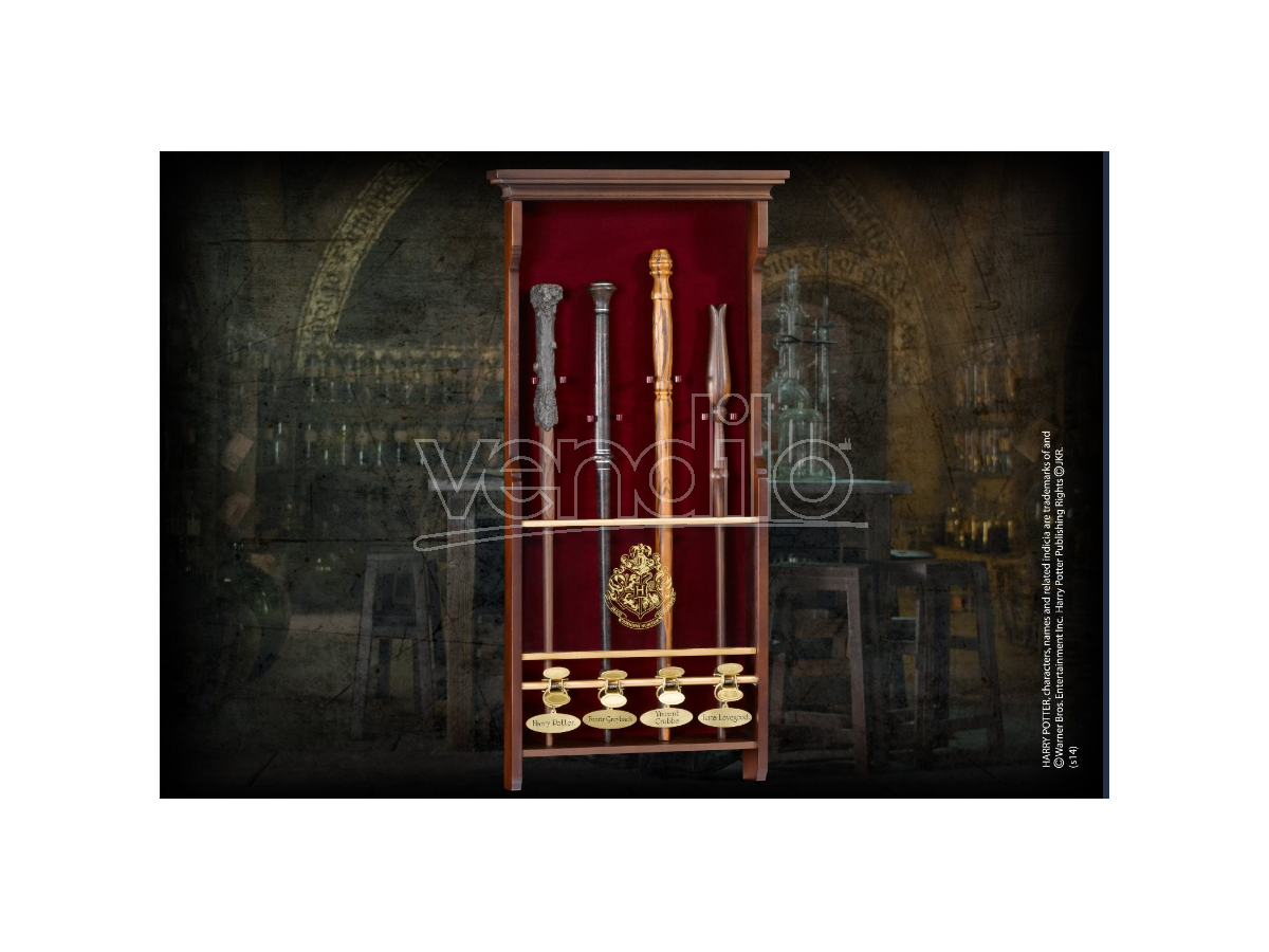 Portabacchette in Legno a 4 posti Harry Potter Noble Collection
