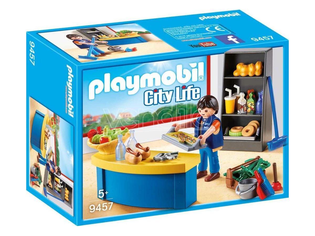 PLAYMOBIL 9457 - CUSTODE CON CHIOSCO