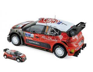 Norev NV181632 CITROEN C3 WRC N.7 WINNER MEXICO 2017 K.MEEKE-P.NAGLE 1:18 Modellino