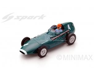Spark Model S4872 VANWALL VW5 T.BROOKS 1958 N.4 WINNER BELGIUM GP 1:43 Modellino