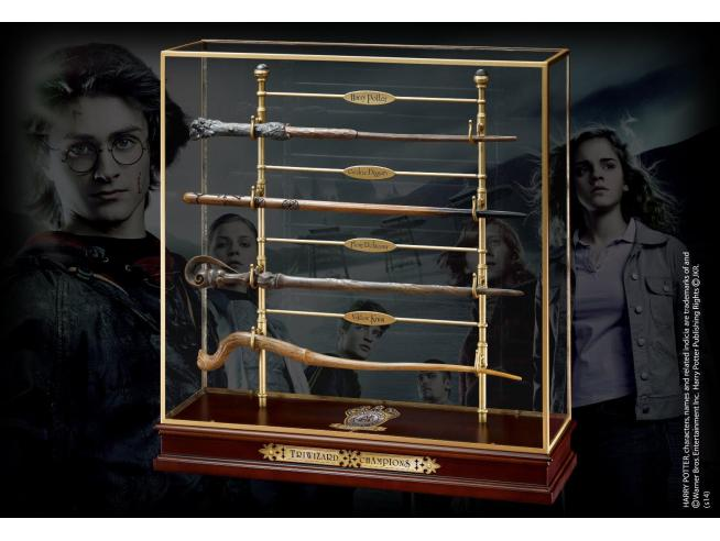 Harry Potter  Espositore Bacchette Campioni Torneo Tremaghi  Noble Collection