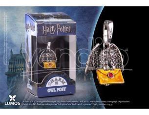 Harry Potter  Ciondolo Gufo Postino Con Lettera  Noble Collection