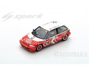 Spark Model SA126 HONDA CIVIC EF3 N.24 3rd MACAU GUIA RACE 1989 MASAMI MIYOSHI 1:43 Modellino