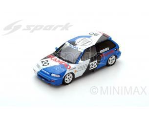 Spark Model SA132 HONDA CIVIC EF3 N.20 3rd MACAU GUIA RACE 1990 TOMOHIKO TSUTSUMI 1:43 Modellino