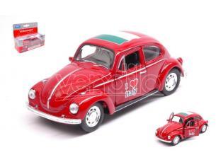 Welly WE42343ITR VW BEETLE I LOVE ITALY cm 11 (1:34-1:38) Modellino