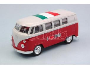 Welly WE49764ITR VW BUS T1 1963  I LOVE ITALY cm 11 (1:34-1:39) Modellino