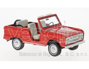 Neo Scale Models NEO47210 FORD BRONCO ROADSTER 1966 RED 1:43 Modellino