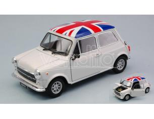 Welly We22496uk Mini Cooper 1300 White Uk Bandiera 1:24 Modellino