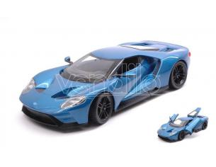 Welly WE24082BL FORD GT 2017 METALLIC BLUE 1:24 Modellino