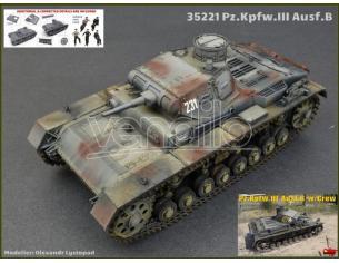 Miniart MIN35221 PZ.KPFW.III AUSF.B W/CREW KIT 1:35 KIT 1:35 Modellino