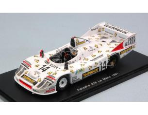 Spark Model S5502 PORSCHE 908/80 N.14 ACCIDENT LM 1981 D.WHITTINGTON-R.JOEST-K.NIEDZWIEDZ Modellino