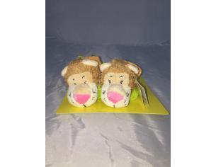 MariCart - Scarpine neonato con coppia leoni peluche 0+
