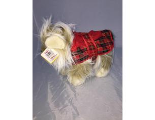 Maricart - Cane vestito Scozzese Peluche 25cm
