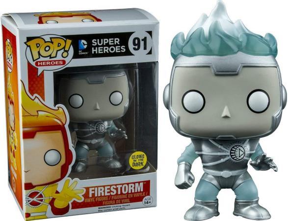 Funko Super Heroes POP DC Comics Vinile Figura Firestorm Lanterna Bianca Luminoso 9 cm