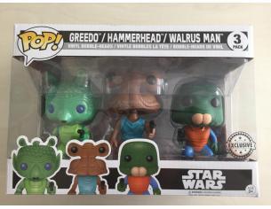 Funko Star Wars POP Movies Greedo Hammerhead Wairus Man 9 cm Esclusiva