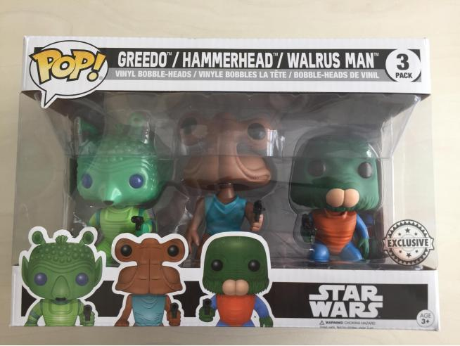 Funko Star Wars POP Movies Greedo Hammerhead Wairus Man 9 cm Esclusiva
