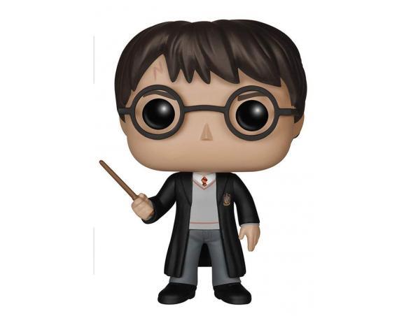 Funko Harry Potter POP Movies Vinile Figura Harry con Bacchetta 10 cm