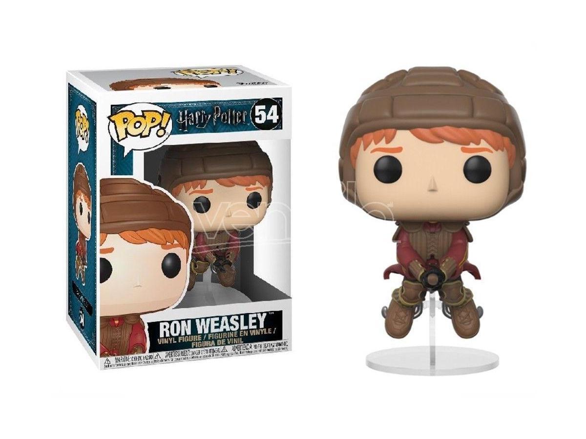 Funko Harry Potter POP Movies Vinile Figura Ron sulla Scopa di Quidditch 9 cm