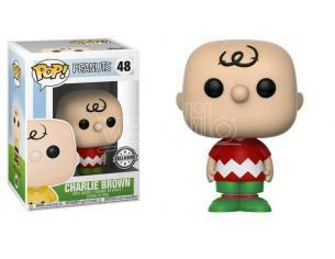 Funko Peanuts POP Vinile Figura Charlie Brown Natalizio 9 cm Esclusiva