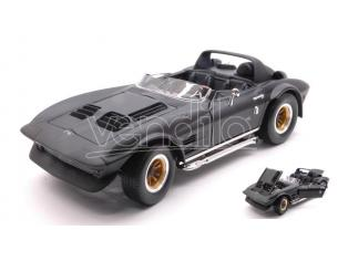 Hot Wheels LDC92697BK CHEVROLET CORVETTE GRAND SPORT ROADSTER 1964 MATT BLACK 1:18 Modellino