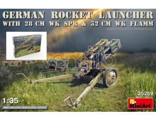Miniart MIN35269 GERMAN ROCKET LAUNCHER WITH 28 cm WK Spr & 32 cm FLAMM KIT 1:35 Modellino