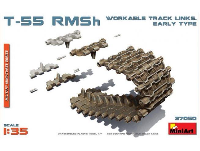 Miniart MIN37050 T-55 RMSh WORKABLE TRACK LINKS EARLY TYPE KIT 1:35 Modellino