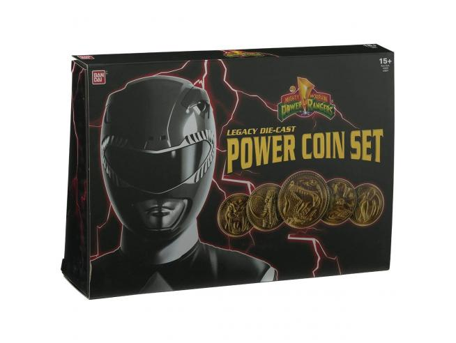 Power Rangers - Legacy Die-Cast Premium Power Set di Monete Bandai