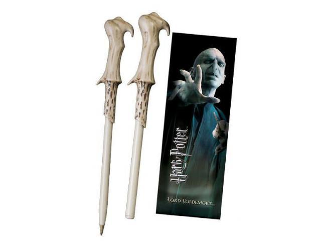 Penna e Segnalibro Bacchetta Lord Voldemort Harry Potter Noble Collection